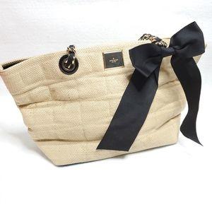 Kate Spade Neutral Wicker Shoulder Bag